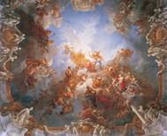 Francois Lemoyne - Apotheose des Herkules Fresko, 1731-36, 18,5 x 17,0 m, Palast in Versailles