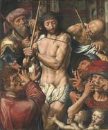 Jan Sanders van Hemessen - Die Verspottung Christi Öl auf Holz, 1544, 123 x 102,5 cm, Alte Pinakothek, München  gezeigt unter den Bedingungen der (CC BY-SA 4.0) https://creativecommons.org/licenses/by-sa/4.0/