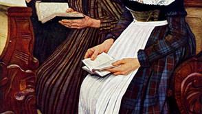 Wilhelm Leibl - The three women in the church