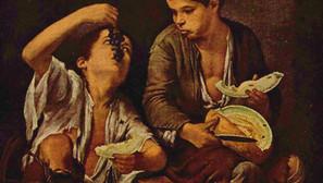 Bartolomé Esteban Murillo - Two Boys Eating a Melon and Grapes