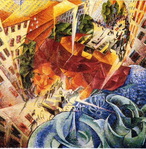 Umberto Boccioni - Simultanvisionen Öl auf Leinwand, 1911, 60,5 x 60,5 cm, von der Heydt-Museum, Wuppertal