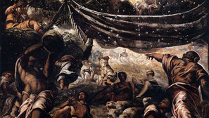Tintoretto - Gathering of Manna