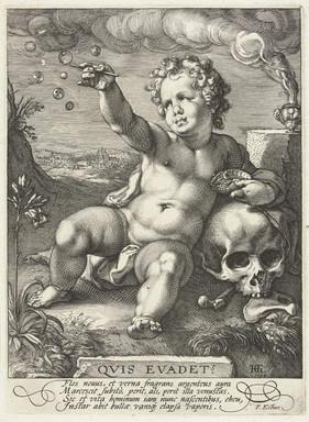 Hendrik Goltzius - Homo Bulla Kupferstich, 1594