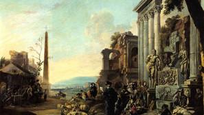 Anton Goubau - Study of art in Rome