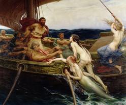 Herbert James Draper – Odysseus und die Sirenen Öl auf Leinwand, ca. 1909, 177 x  213.5 cm, Ferens Art Gallery, Kingston upon Hull