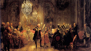 Adolph von Menzel - The Flute Concert of Frederick the Great at Sanssouci