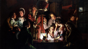Joseph Wright of Derby - The experiment with a bird in the air pump