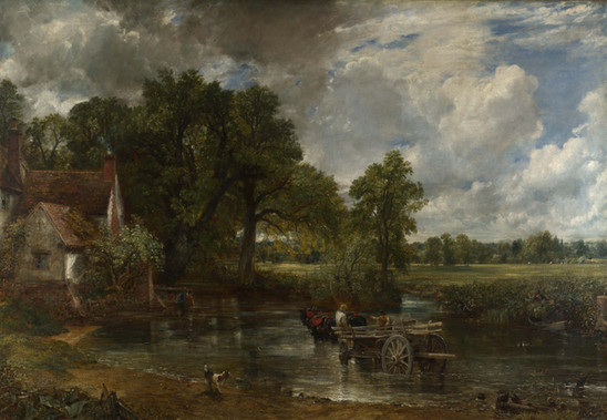 John Constable - Der Heuwagen  Öl auf Leinwand, 1821, 130 x 185 cm, National Gallery in London