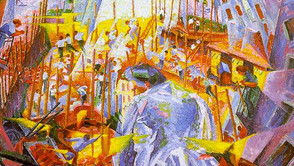 Umberto Boccioni - The noise of the street enters the house