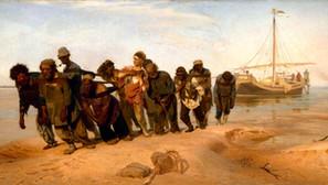 Ilja Repin - the Volga boatman