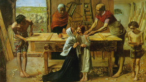 John Everett Millais - Jesus in the house of his parents