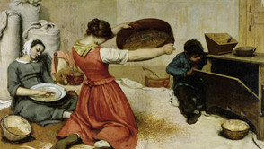 Gustave Courbet - The Wheat Sifters