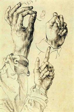 Albrecht Dürer - Handstudien Bleifstift auf Papier, 1494