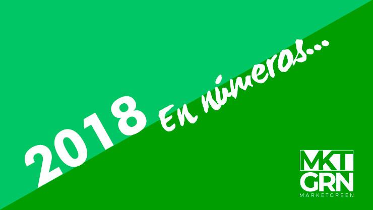 2018 en números, es imagen invita a leer todos los logros alcanzado durante el año que recién termina