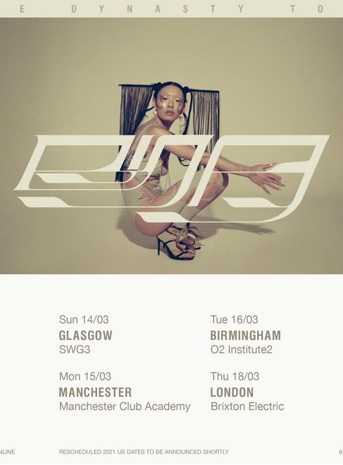 Rina Sawayama Announces Glasgow date for The Dynasty Tour