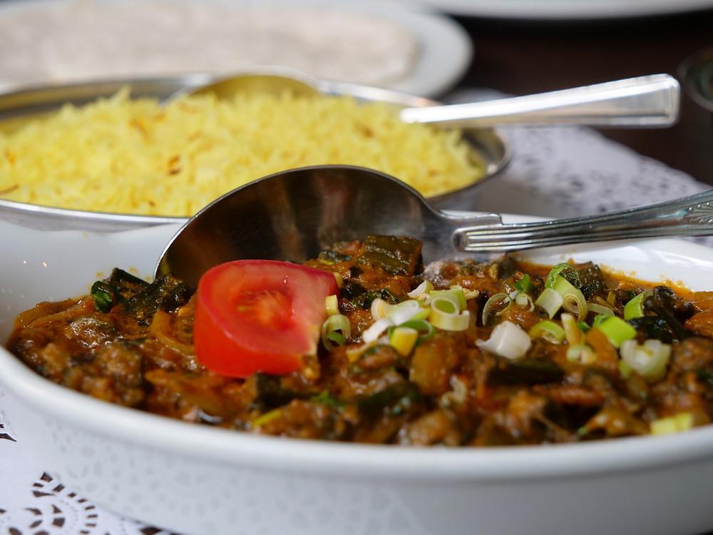 Okra Curry at Nilgiri Spice