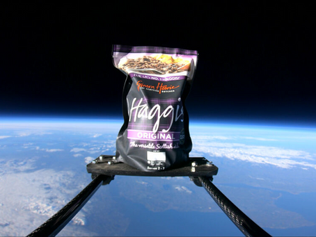 Simon Howie rockets into 2021 by launching the first ever haggis into space