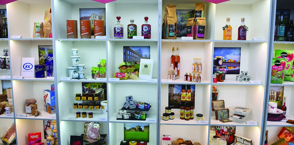 Welsh products on display