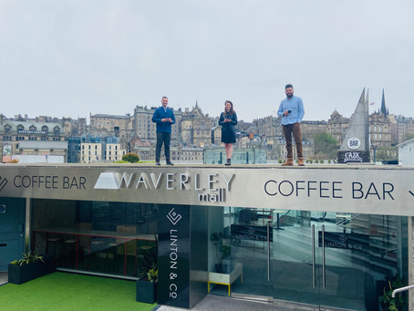Rooftop artisan coffee shop opens with an amazing backdrop