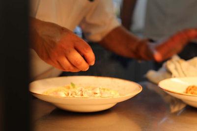 Hand prepared Italian food