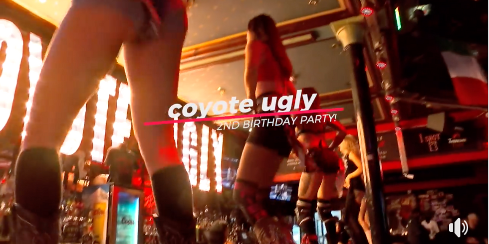 Coyote Ugly Cardiff 2nd Birthday