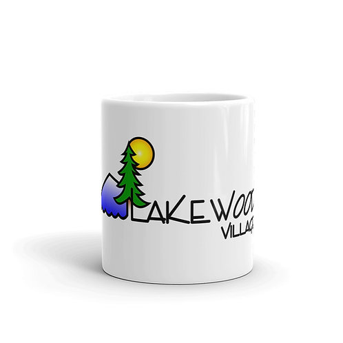 Lakewoods Village white glossy mug