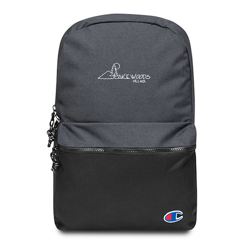 Lakewoods Village Embroidered Champion Backpack