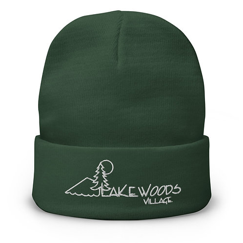 Lakewoods Village Embroidered Beanie
