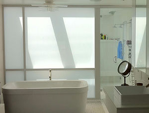 Bathroom privacy - frosted window film