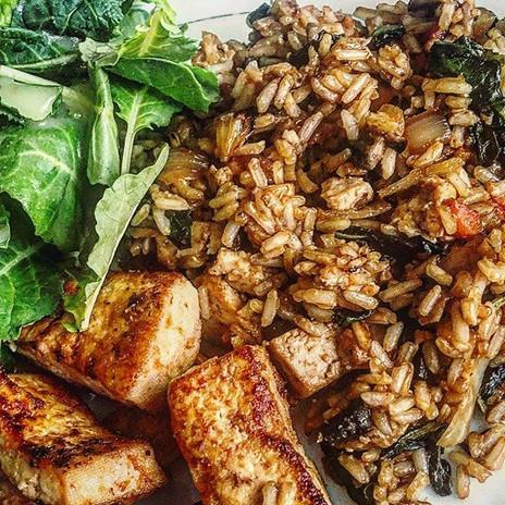 Reposting my tofu and vegan fried rice I