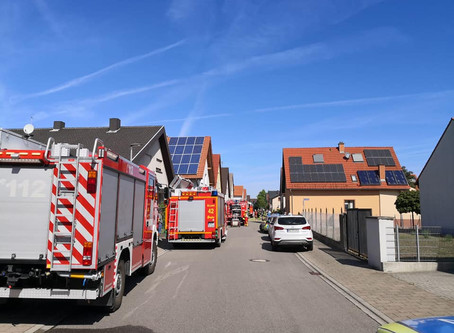 F2 Wohnwagenbrand