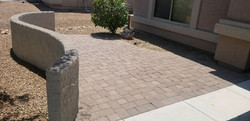 Stuccoed Wall with Paver Patio