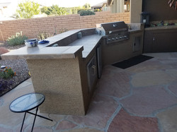 BBQ Area with Flagstone Flooring