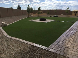Pavers with Turf