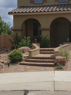 Front Steps with Pavers
