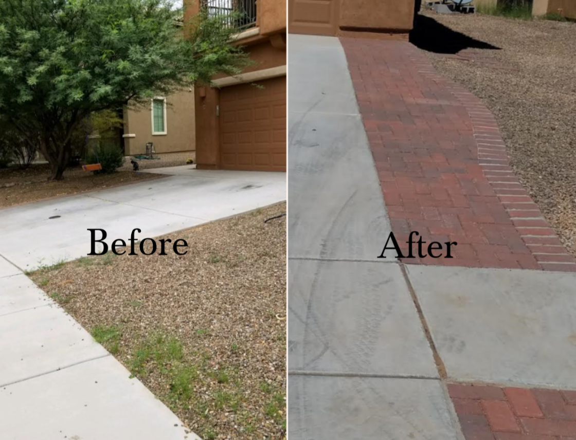 Before & After Driveway Extension
