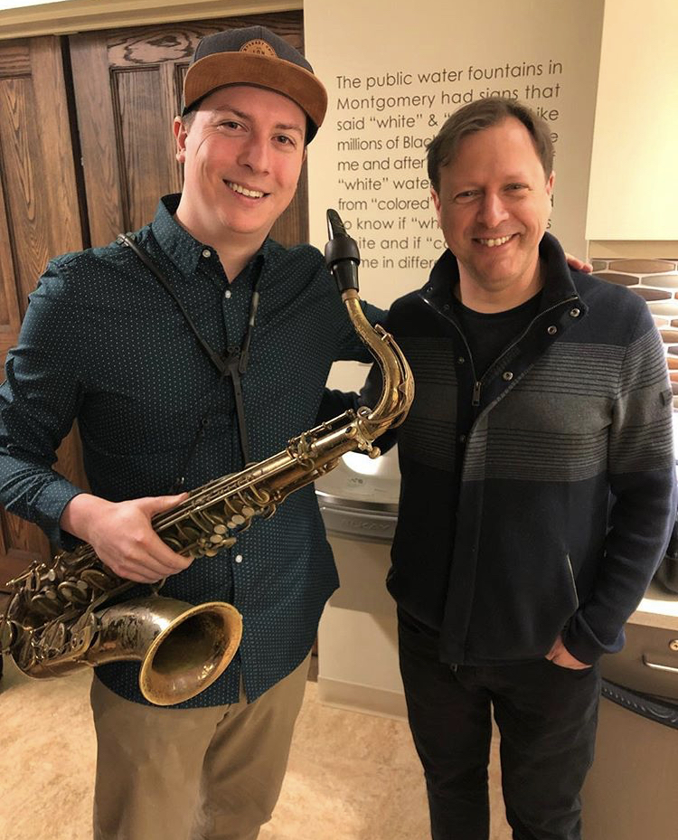 With Chris Potter