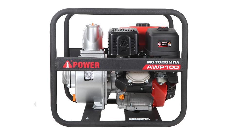 Бензиновая Мотопомпа для чистой воды A-IPOWER AWP100