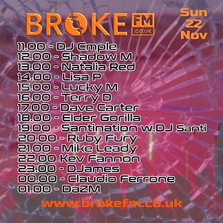 Broke FM DJ list flyer Sunday 22112020.p