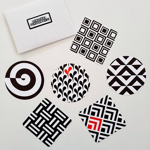 6 Geometric Sensory Decal Stickers
