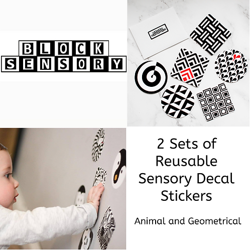 2 sets of sensory decal stickers (total 12)