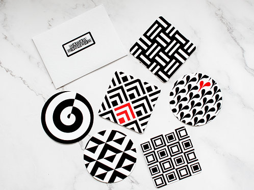 6 Geometric Sensory Decal Stickers