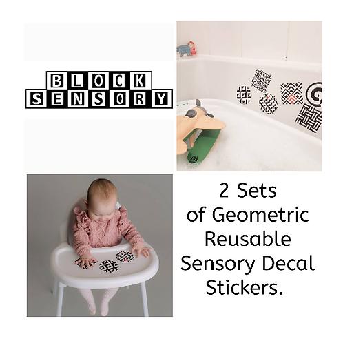 2 sets of geometric sensory decals