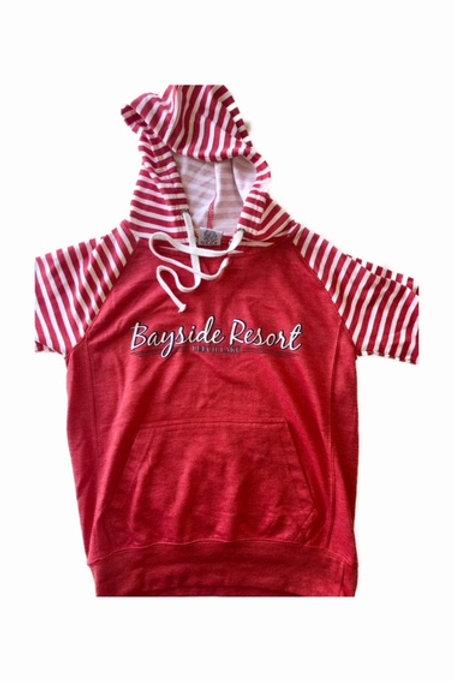 Girls and Ladies Hooded Sweatshirt Red