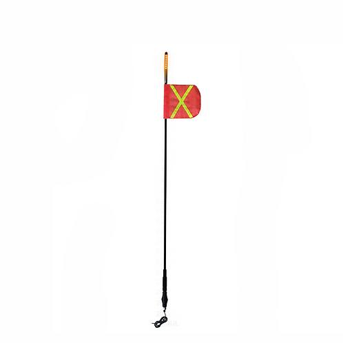 8' Safety Whip (Black Removeable Amber LED)