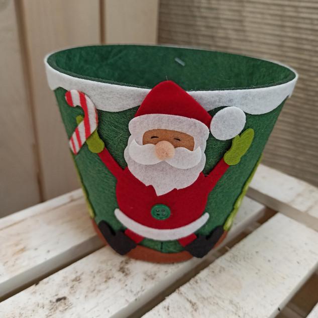 Macetero Papá Noel