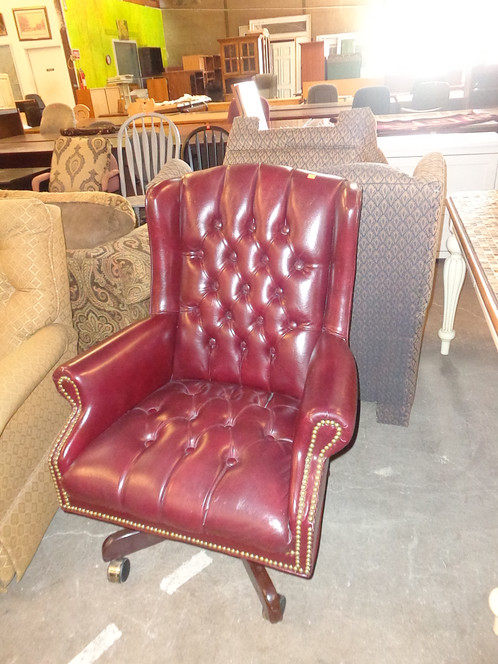 Leather Rolling Office Chair | midland-habitat-1