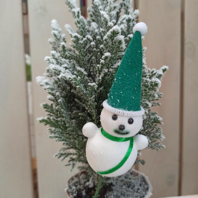 Mini pino temática navideña