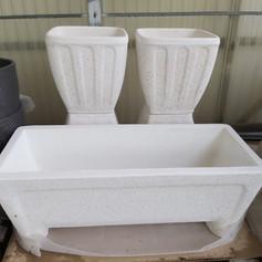 Jardinera de piedra (rectangular)