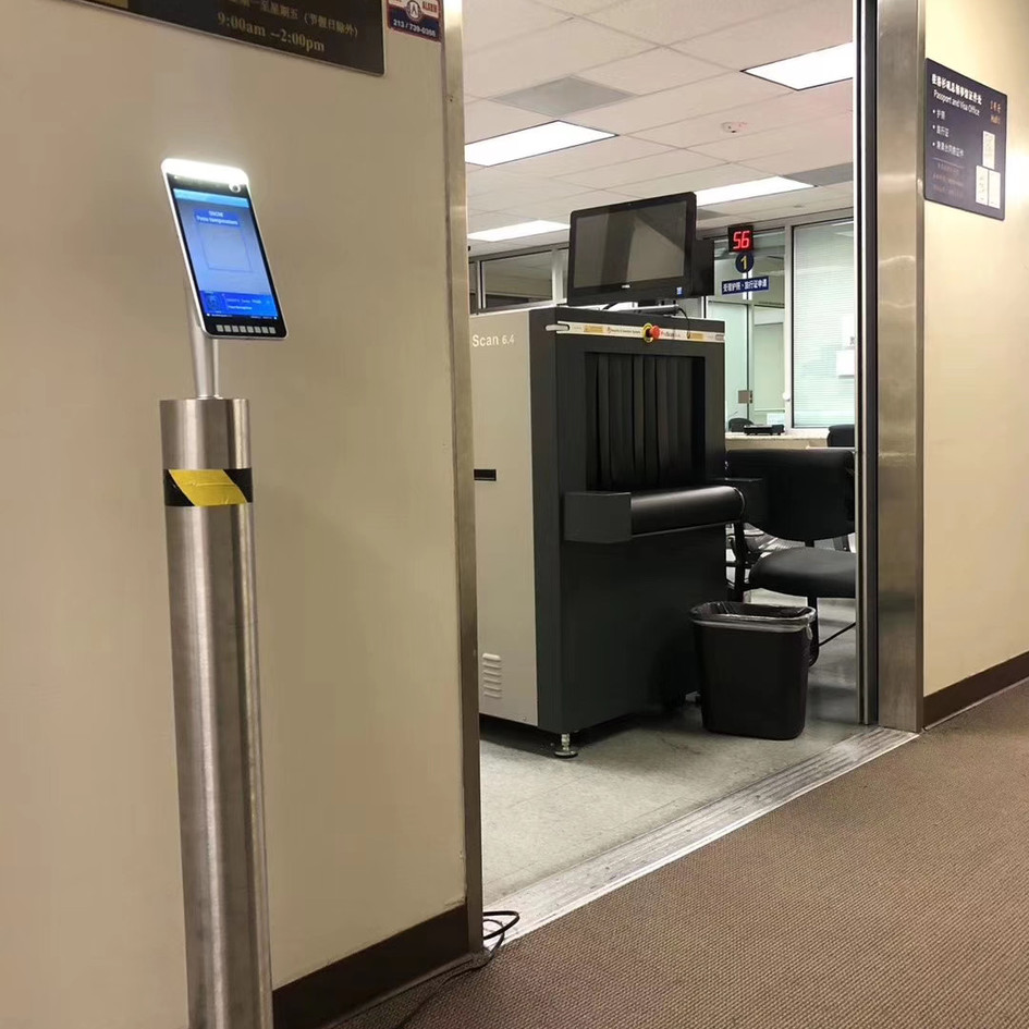 Our temperature measurement system serving in Chinese Consulate in Los Angeles